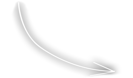 curved white arrow